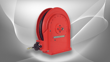 Single Stand Carbon Steel Hose Reel 7000 Series Automatic